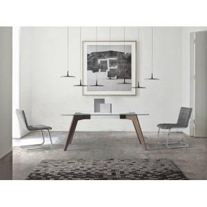 ROGER modern üveg étkezőasztal - 150/160/180cm Étkezőasztalok AC