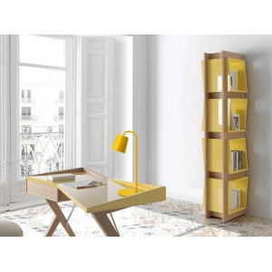 JAZZ design könyvespolc - 200cm - sárga/tölgy Angel Cerdá AC
