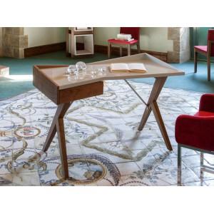 ORIGAMI design íróasztal - 120cm - fehér/dió Angel Cerdá AC
