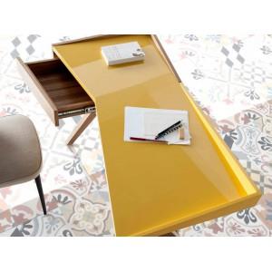 ORIGAMI design íróasztal - 120cm - sárga/tölgy Angel Cerdá AC