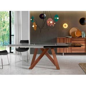 REUS modern bővíthető üveg étkezőasztal - 160-240cm Étkezőasztalok AC