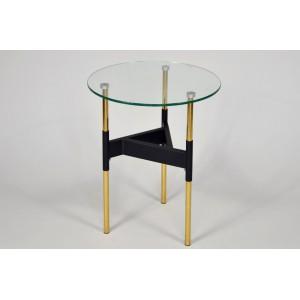 HERRA design lerakóasztal - fekete/arany Asztal