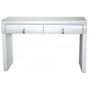 SERAPHINE üveg konzolasztal -fehér- 100/120cm Asztal