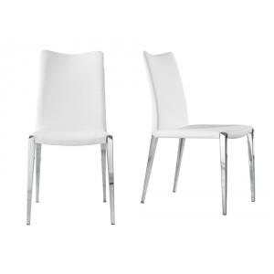 DESIRE modern szék - fehér/fekete