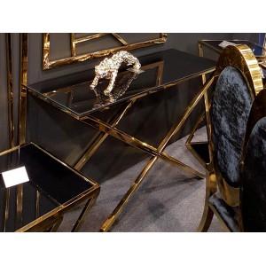 GISELLE üveg konzolasztal - arany- 120cm Asztal