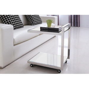 JILL görgős lerakóasztal- fekete/fehér