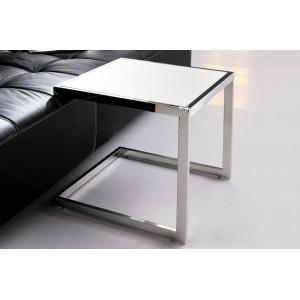 JENNA design üveg lerakóasztal - fekete/fehér