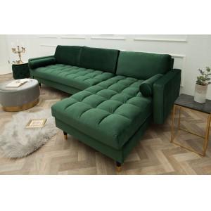 COZY VELVET design bársony kanapé - zöld Ülőbútor