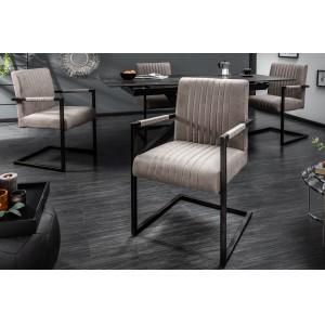 ASTON - II design szék - taupe Karfával