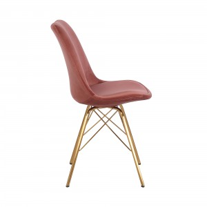 SCANDINAVIA design bársony szék - mályva Karfa nélkül