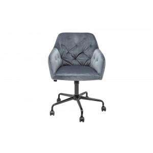 MATCH - design bársony forgószék - szürke Irodai székek