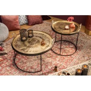 ORIENTAL keleties lerakóasztal szett - arany