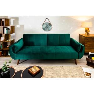 SKAGEN -II modern bársony kanapé - 215cm - zöld Ülőbútor