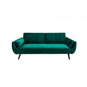 SKAGEN -II modern bársony kanapé - 215cm - zöld