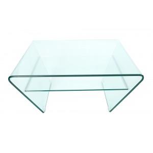 TRAPEZ üveg dohányzóasztal - 70/80cm