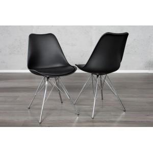 BIOS modern szék - fekete/króm Karfa nélkül