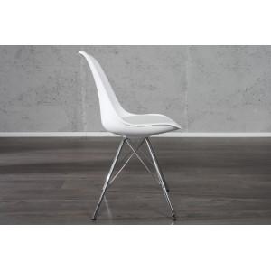 BIOS modern szék- fehér/króm Karfa nélkül