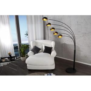 QUINTUS - design állólámpa - matt fekete / arany Állólámpák