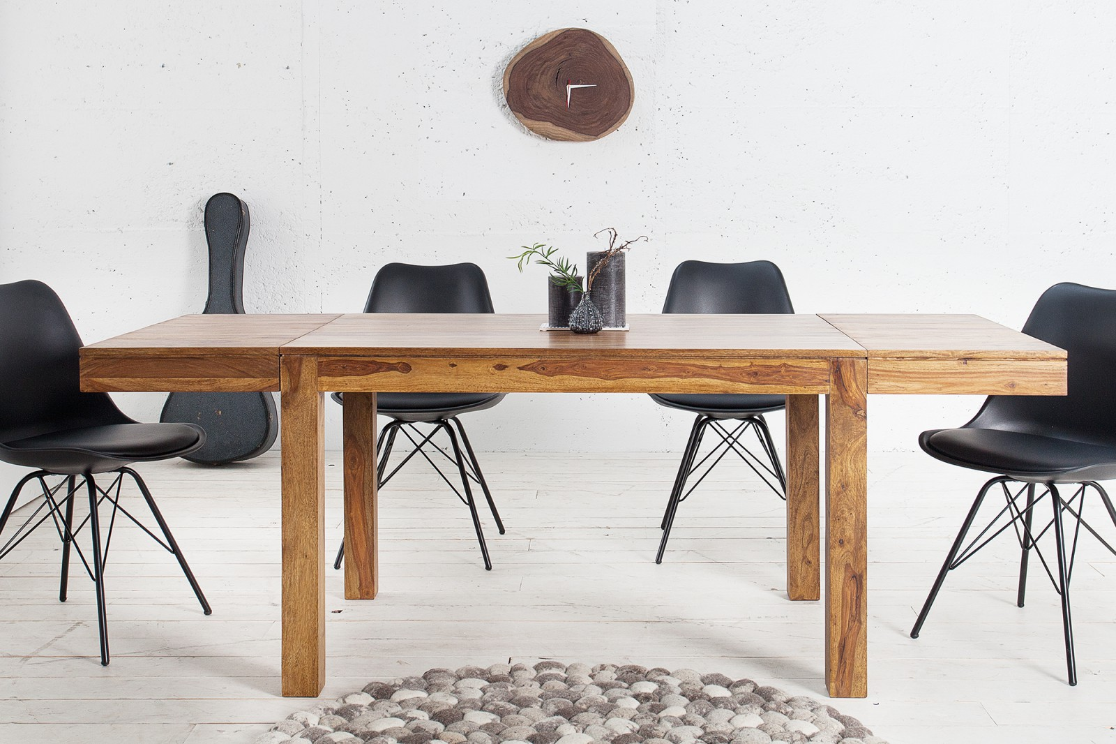 LAGOS tömör rózsafa étkezőasztal 120cm | Modern fa