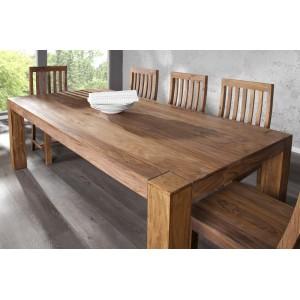 MAKASSAR NATUR tömör rózsafa étkezőasztal 200 cm Étkezőasztalok