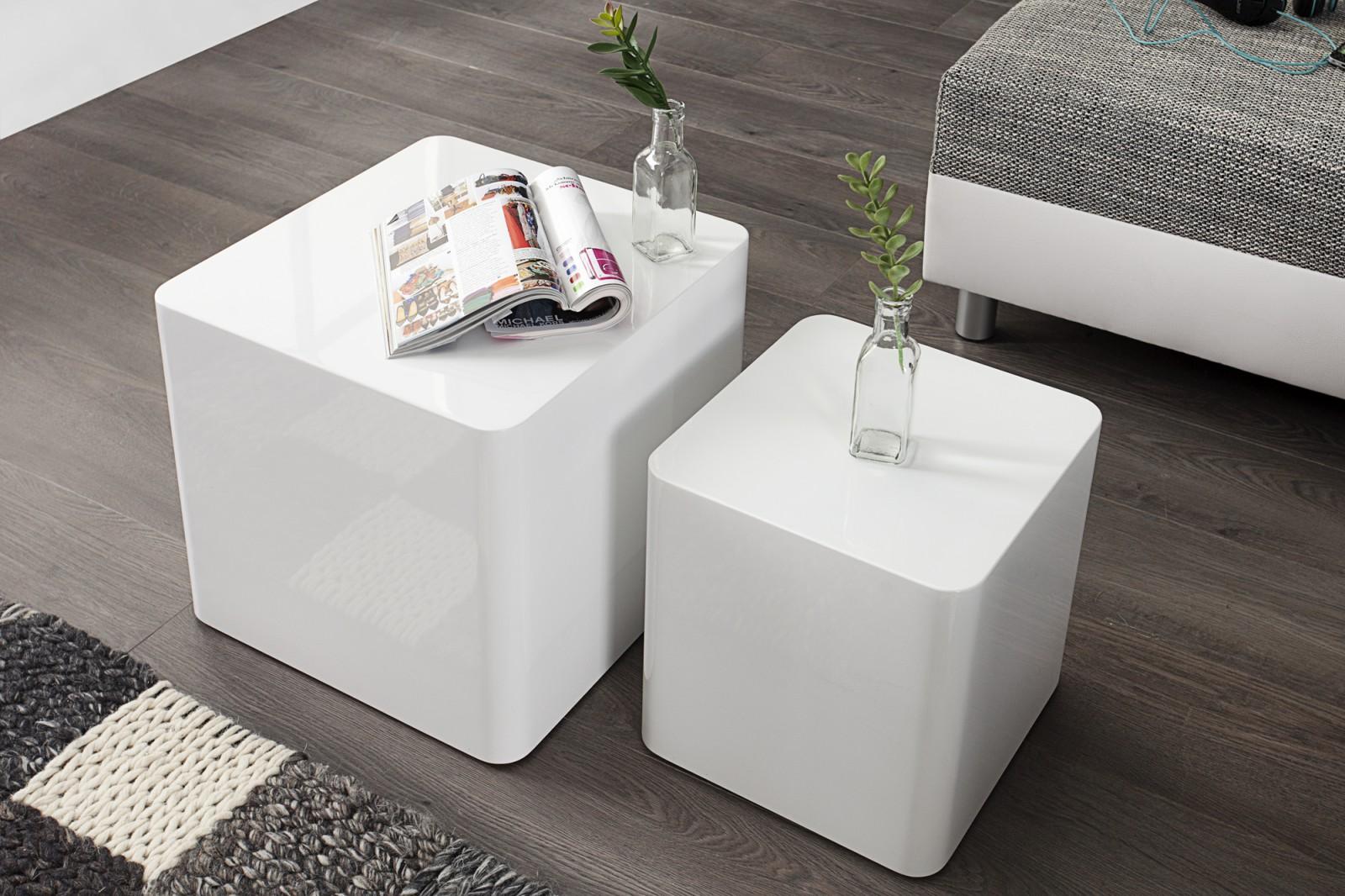Cubica doh nyz asztal feh r for Kleine couchtisch designer