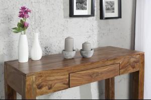 MAKASSAR NATUR tömör rózsafa konzolasztal Asztal
