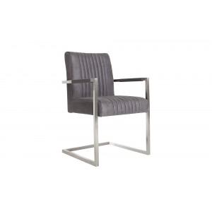 ASTON design szék - vintage szürke Karfával