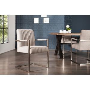 ASTON design szék - világosszürke Karfával