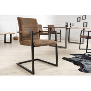 IMPERIAL design szék - antik coffee Karfával