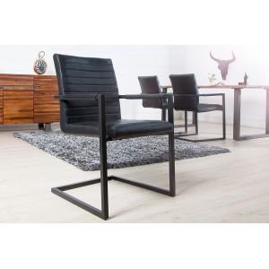 IMPERIAL modern szék - antik fekete Karfával