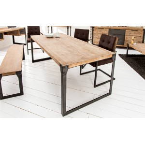 FACTORY - akác tömörfa étkezőasztal - 160/200 cm Étkezőasztalok