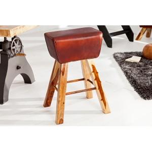BOCK design bárszék- barna bőr Ülőbútor