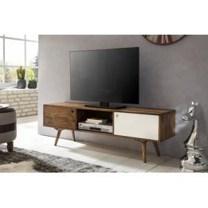 REPA II tömör rózsafa TV állvány - fehér TV szekrények