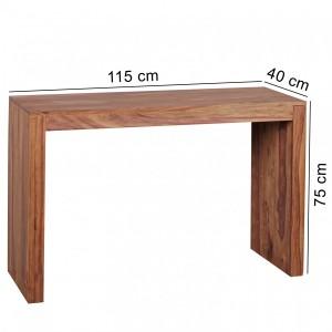 MAKASSAR II tömör rózsafa konzolasztal Asztal