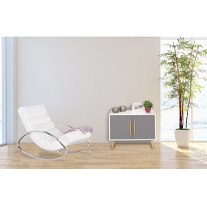 REFRESH luxus fotel- fehér Ülőbútor