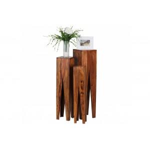 DENPASSAR tömör rózsafa lerakóasztal szett Asztal