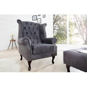 CHESTER design fotel - antik szürke Ülőbútor