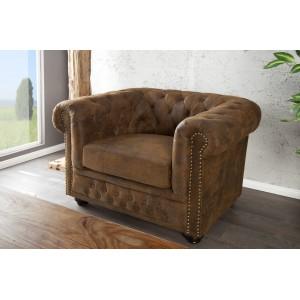 CHESTERFIELD luxus fotel - antik kávé Ülőbútor
