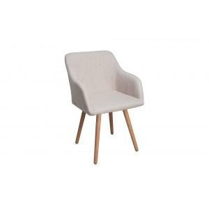 BERGEN modern szék - beige Karfával