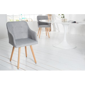 BERGEN modern szék - szürke Karfával