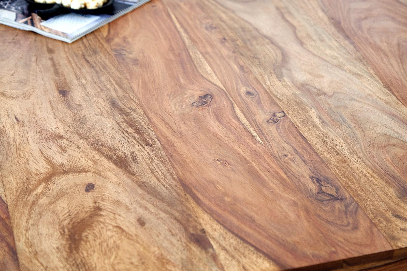MAKASSAR NATUR tömör rózsafa étkezőasztal 160cm | Modern fa