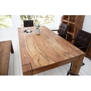 MAKASSAR NATUR rózsafa tömörfa étkezőasztal 160cm Étkezőasztalok