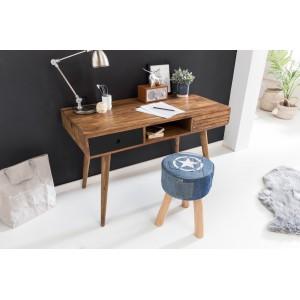 REPA tömör rózsafa / fekete íróasztal Íróasztalok