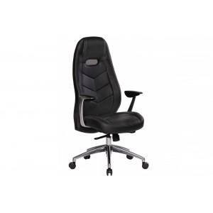 SPEED bőr íróasztali szék - fekete Irodai székek