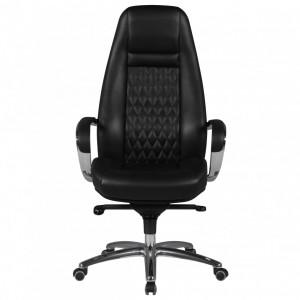 CONTINENTAL bőr íróasztali szék - fekete Irodai székek