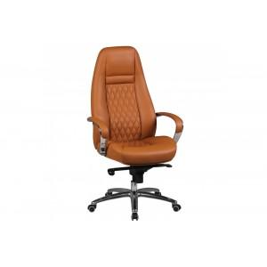 CONTINENTAL bőr íróasztali szék - caramel Irodai székek