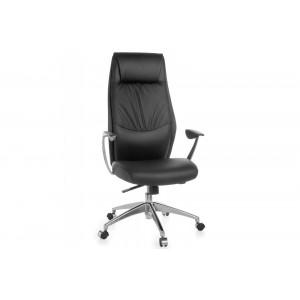 LIVERPOOL bőr íróasztali szék - fekete Irodai székek