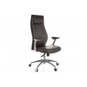 LIVERPOOL bőr íróasztali szék - barna Irodai székek