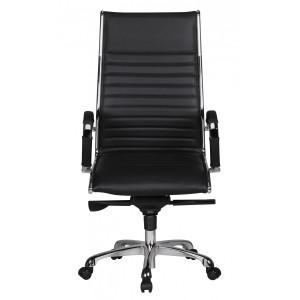 HAMBURG bőr íróasztali szék - fekete Irodai székek