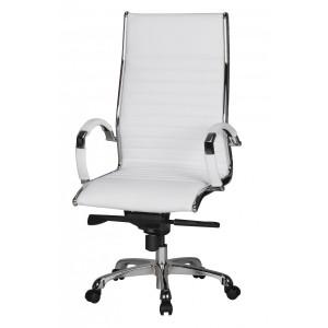 HAMBURG bőr íróasztali szék - fehér Irodai székek